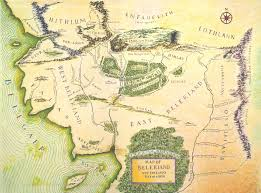 map from lord of the rings tolkiens legendarium did maps in middle earth west on the