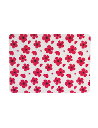ponden home interiors ponden home pack of 4 bright poppy design cork back placemats