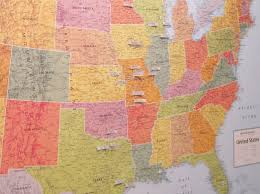World Map Pins by Diy Pinboard Travel Map Part 2 Loving Here