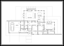 Single Storey Floor Plans by Home Design 4 Bedroom Ranch Floor Plans Single Story Within