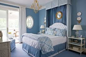 Blue Bedroom Design Beautiful Rooms In Blue And White Traditional Home