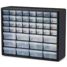 plastic storage cabinets with drawers akro mils 44 compartment small parts organizer cabinet 10144 the