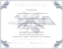 certified editable marriage certificate template
