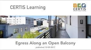 Open Balcony Design Egress Along An Open Balcony Youtube
