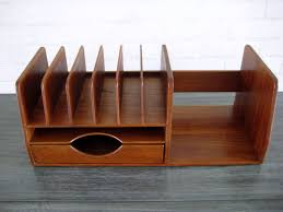 Wood Desk Accessories And Organizers A Hans Wegner Teak Wood Desk Organizer C 1960 S