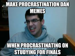 Studying For Finals Meme - bio final in four hours trivial pursuit procrastination dan