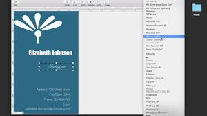 How To Design Your Business Card How To Design A Portrait Style Business Card On Your Mac Youtube