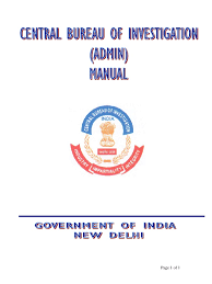 a manual on cbi administration government of india prosecutor