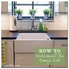 ikea kitchen sink cabinet installation how to undermount ikea s domsjo sink