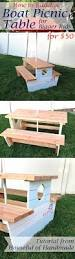 How To Build A Wooden Picnic Table by How To Build A Nautical Picnic Table For Bigger Kids A Houseful