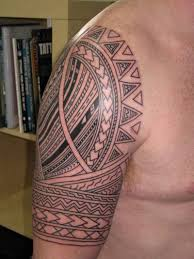 half sleeve samoan tribal tattoo for men