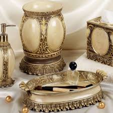 bathroom antique gold bathroom accessories set with tray and