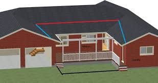 home designer pro gable roof skillion shed roof cut into existing gable roof