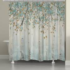 Aqua Blue Shower Curtains Forest Shower Curtain Laural Home