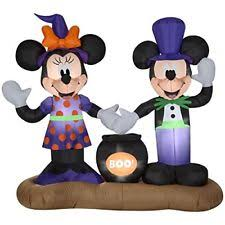 gemmy airblown inflatable 4 5 u0027 x mickey mouse and minnie halloween