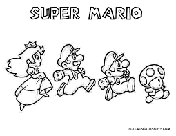 mario coloring pages print free large images coloring pages
