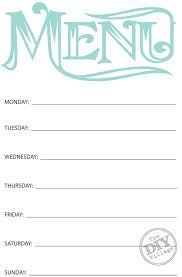 weekly menu templates free free printable weekly meal planning templates and a week s worth
