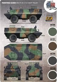 vab p u0027felin u0027 camouflage color profile and paint guide