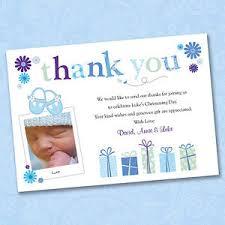 25 x personalised photo thank you cards boy christening baptism