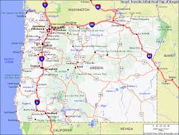 map of oregon detailed route map