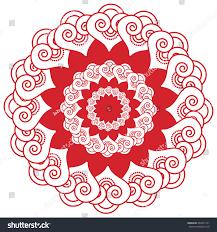 asian wedding makeup henna tattoo decoration stock vector