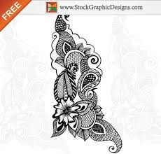 free vector ornamental floral design vector free
