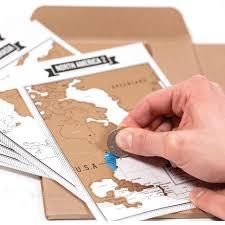 Popular travelogue notebooks scratch map travel log tourist