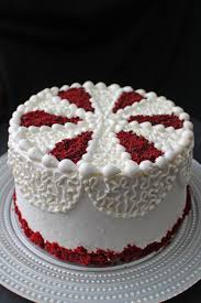 red velvet layer cake with my conbination of cream cheese icing