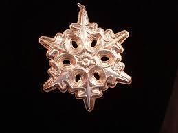 gorham sterling silver snowflake ornament ebay