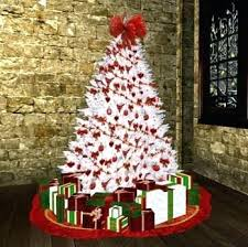 christmas tree with white lights and red bows red green and gold christmas tree ideas red and white decorations