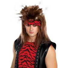Rockstar Halloween Costumes Dreamgirl Rock Star Wig Mens 80s Hair Band Halloween Costume Fancy
