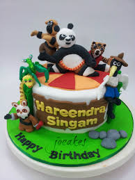 kung fu panda cake for 3 year old hareendra jocakes
