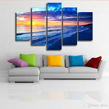 hanging canvas art without frame home decor wall sticker living room office decoration painting sea