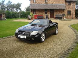 mercedes slk 2003 03 black manual 6 speed fsh 3 owners 78k