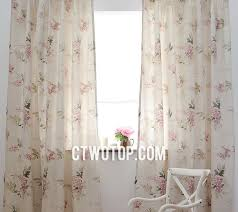 and light pink romantic fresh best quality floral curtains