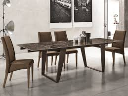 ceramic top dining room tables stylish zeus 180 extending dining table with metal legs and a