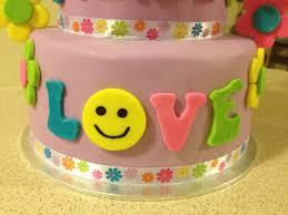 peace u0026 hippie themed birthday cake hippie peace u0026 love t u2026 flickr