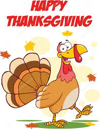 happy thanksgiving images clip art happy thanksgiving greeting with turkey walking u2014 stock photo