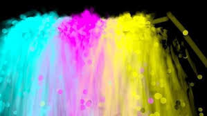 animated spray paint of cyan magenta yellow and black colors