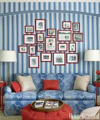 Red Blue And Grey Living Rooms Patriotic Decor For 4th Of July Red White And Blue Decorating