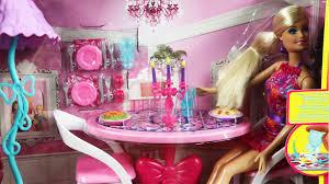 Barbie Dining Room Barbie Glam Dining Room Jadalnia Z Lalką Barbie Mattel Www