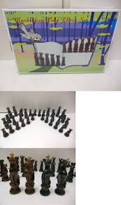 contemporary chess 40856 new marble cat chess set pieces only