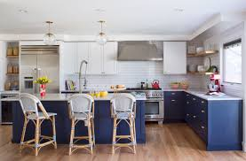 electric blue kitchen cabinets a blue and white denver kitchen remodel 5280