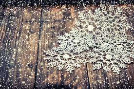 snow decoration christmas decoration snowflakes with falling snow effect rustic