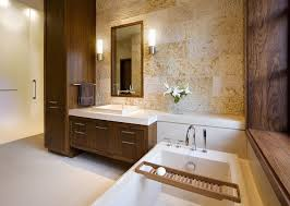 Contemporary Bathroom Cabinets - contemporary master bathroom with drop in bathtub by gregg de meza