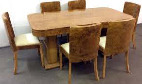 art deco dining set by harry u0026 lou epstein 1930s for sale at pamono