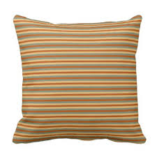 colors of autumn green yellow and striped throw pillow