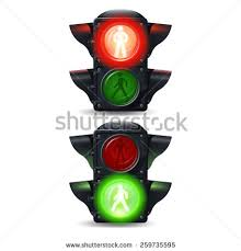 stop and go light realistic stop go pedestrian traffic lights stock vector 259735595