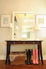 Mirrored Entry Table Beautiful Entry Foyer Mirrored Glass Console Table With Aqua