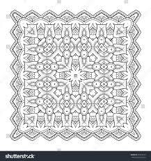 doodle presentations square pattern symmetric zentangle black vector stock vector
